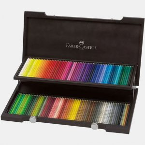 Faber-Castell - Matite Colorate Polychromos Valigetta legno 120