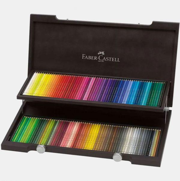 Faber-Castell - Matite Colorate Polychromos Valigetta legno 120
