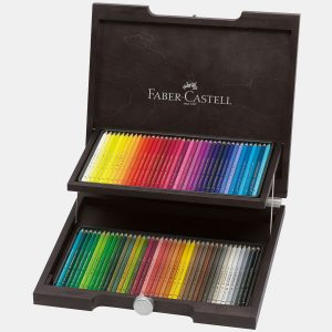 Faber-Castell – Matite Colorate Polychromos Valigetta legno 72
