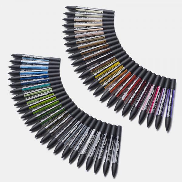 Winsor & Newton - Astuccio rigido in cartone con 48 pennarelli promarker essential collection
