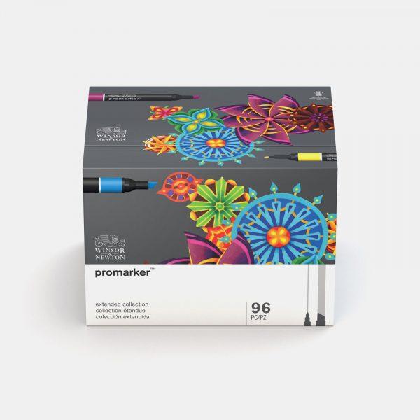 Winsor & Newton - Astuccio rigido in cartone con 96 pennarelli promarker essential collection