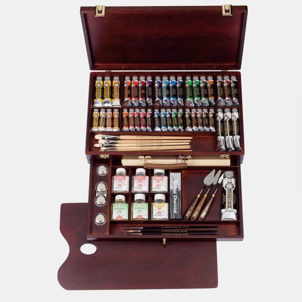 Royal Talents cassetta legno colori olio rembrandt001 B Pellegrini Brera Milano