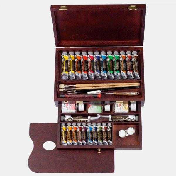 Royal Talents cassetta legno colori olio rembrandt002 B Pellegrini Brera Milano