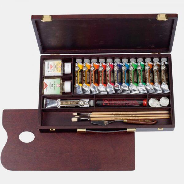 Royal Talents cassetta legno colori olio rembrandt003 B Pellegrini Brera Milano