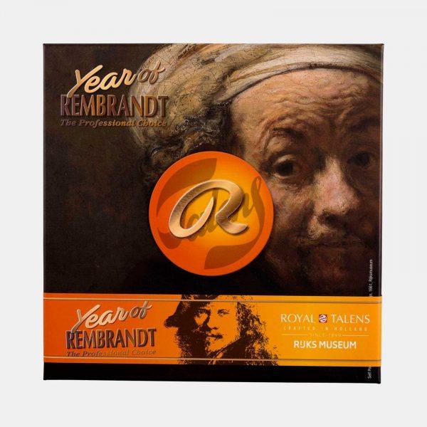 Scatola di cartone The Year of Rembrandt 410 colori olio C Pellegrini Brera Milano