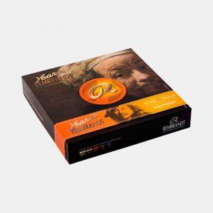 Scatola di cartone The Year of Rembrandt 410 colori olio Pellegrini Brera Milano