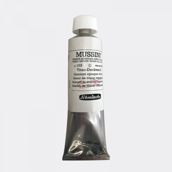 colori a olio Schmincke Mussini Bianco di Titanio 150ml