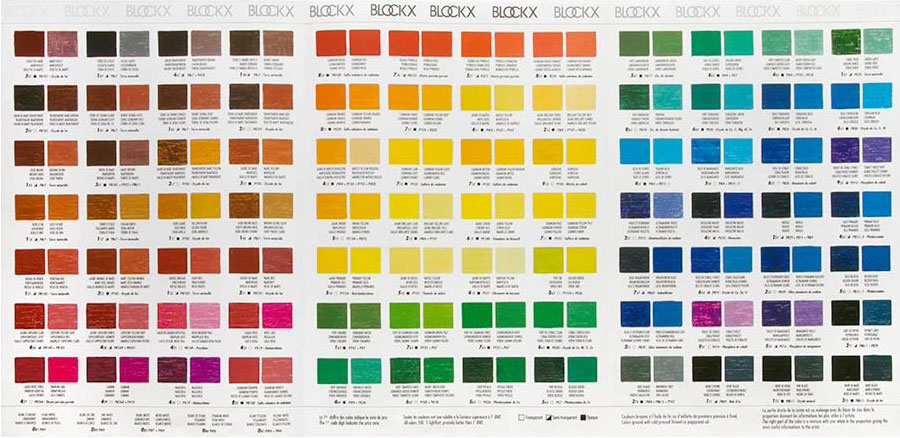 Cartella colori Olio Blockx Extrafine Pellegrini Brera Milano