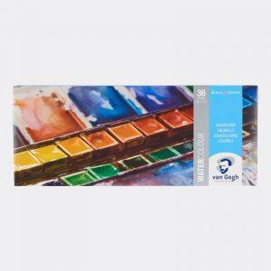 Colori all'Acquerello Talens Van Gogh Confezione Metallo 36 godet + 1 pennello OMAGGIO Pellegrini Brera Milano