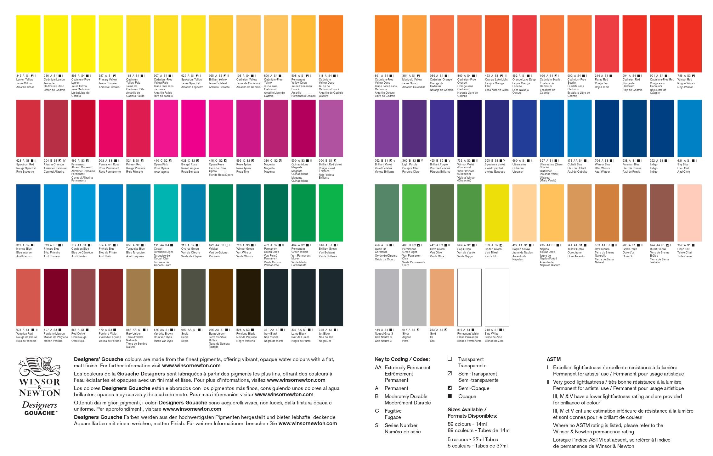 cartella colori Talens acrilico Amsterdam